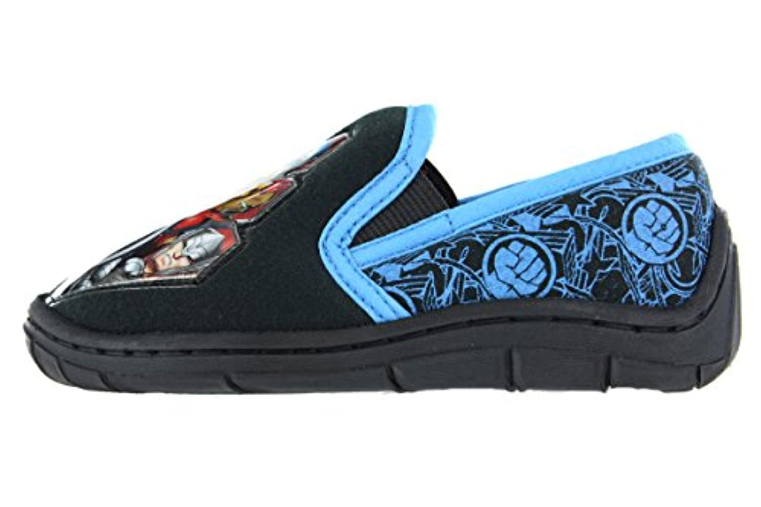 Boys Marvel Avengers Hulk Iron Man Thor Captain America Slip On Slippers Shoes Black Toddler Children Size UK 7 - 3