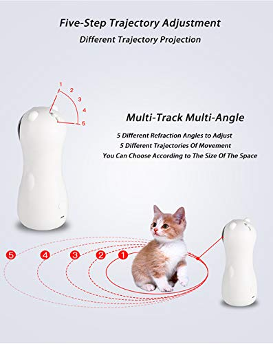EliveSpm Cat Laser Toy-Automatic Rotating Lazer Pointer with 5 Stage Rotating Projection Angle and 3 Speed Modes, Interactive Chasing Toys for Cats&Dogs 3
