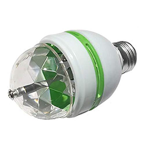 Colorful Rotating Rgb 3 Led Spot Light Bulb Lamp in US - 1