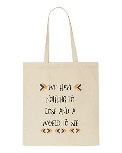 World We Tote Beige Have A Tribal See Nothing Lose And Bag Travel Quotes Motivational To Shopper wFrYFHZq
