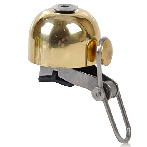 Copper Double Handlebar - Window-pick Bicycle Bell Double-Ring StainlessSteel Loud Crisp Clear Sound for Scooter Cruiser Tricycle Mountain Road Bike MTB BMX Electric Bike,Q Design for Adults Kids