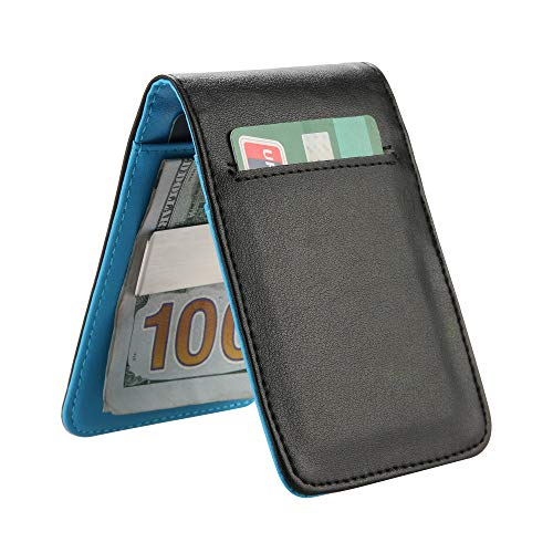 0a37febeea9 YOOMALL Leather Money Clip Wallet for Men RFID Blocking Minimalist Card  Holder Slim Front Pocket Wallets