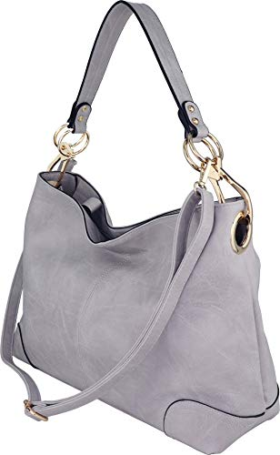 Gray Hobo Handbag - 9