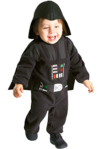 Rubie's Star Wars Darth Vader Romper, Black, 12-24 Months