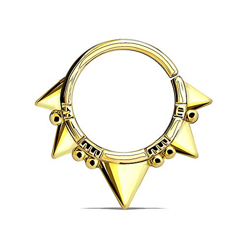 Dynamique Triangles and Beads Bendable Nose Septum and Ear Cartilage Hoop (Sold Per Piece)