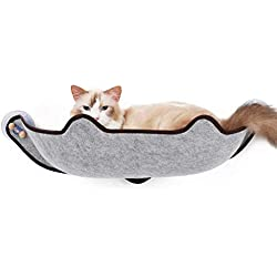 ZENGZHIJIE Hanging Cat Hammock Sucker Cat Hanging Bed Removable and Washable Cat Super Strong Sucker Cat Litter Cat Mat (Color : Grey)