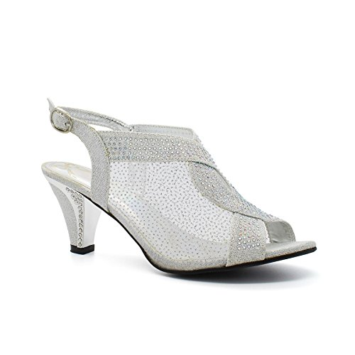 Bride cheville Footwear London femme de silver SYvwq