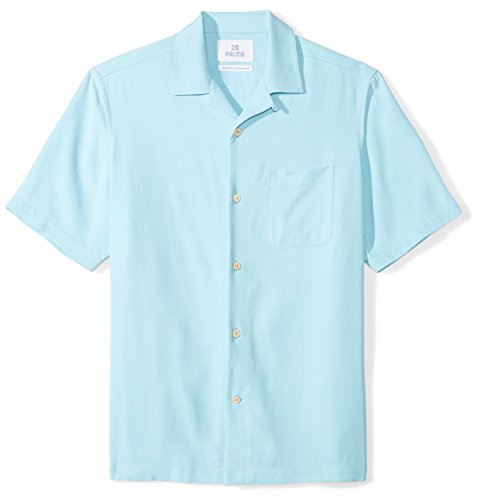 28 Palms Men's Relaxed-Fit 100% Silk Camp Shirt