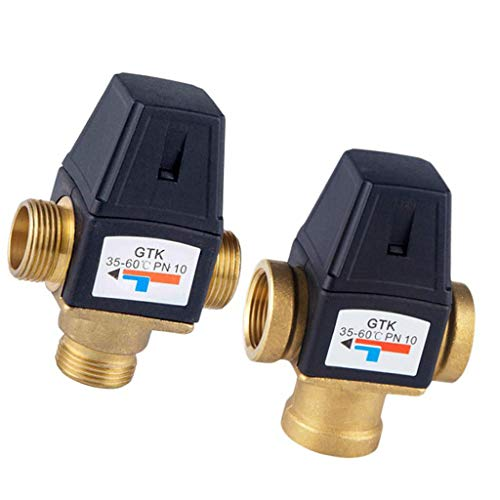 Flameer Brass Automatic Thermostatic Mixing Blending Valve Water Heater Shower Valve - DN20 Male by Flameer (Image #4)