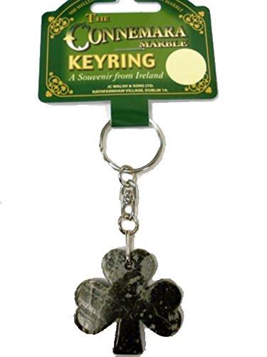- Irish Connemara Marble: Shamrock Key Chain