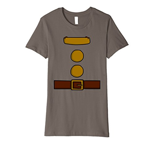 [Womens Dwarf Halloween Group Costume Idea T-Shirt with name plaque Medium Asphalt] (Cute College Costume Ideas)