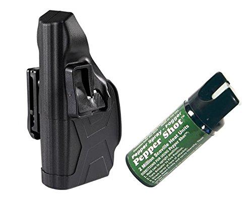 Taser X2 Defender Blackhawk Right Hand Holster & 1 Pepper Shot 2 oz Pepper Spray Fogger by GiftsAndMore