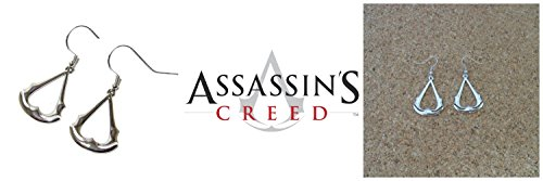 Assassin's Creed Costume Ideas (Assassin's Creed Silvertone Video Game Dangle Earrings (with Gift Box))