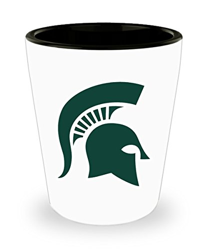 - Spartan Shot Glass Mug Cup 1.5oz MSU Spartan Michigan State University Gifts Accessories Merchandise Shirt Sticker Decal Art Decor Gear