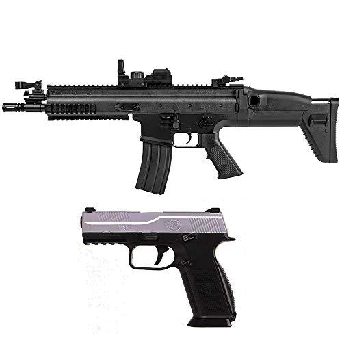 Airsoft-Pack Duo Fusil et Pistolet à Billes FN Scar électrique et FNS-9 à Ressort (0.5 Joule) + 500 Billes 1