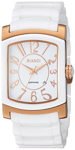 ROBERTO BIANCI WATCHES Women's Classico Stainless Steel Swiss-Quartz Watch with Ceramic Strap, White, 24 (Model: RB28600)