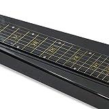 Lap Steel Guitar 6 Steel String, Metallic Black
