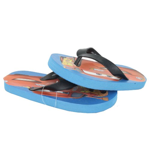 DISENY TODDLERS/LITTLE KIDS CARS SANDAL THONG BLUE BLACK RED SIZE 10