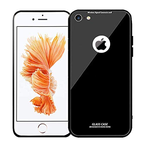 mimob slim luxury side chrome Bumper Case tempered glass case for  apple iphone 6 plus, black