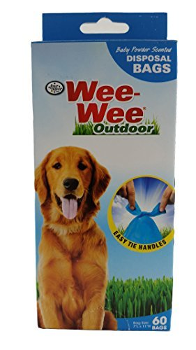 Four Paws Wee-Wee Outdoor, 60 bags