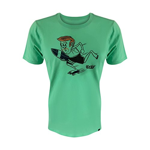 Hurley Men's Short Sleeve Logo Graphic Tee (Surf's-Up/Green, S)
