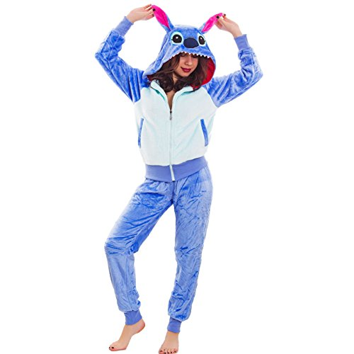 donna Pigiama GATTO Toocool VOLPE ecopelliccia morbido nuovo SQH002 Blu kigurumi cappuccio PAxqgwf