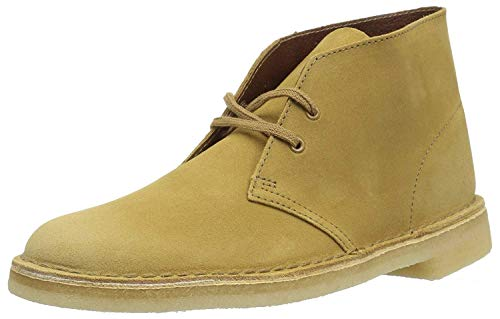 Clarks Suede Boots - CLARKS Men's Desert Chukka Boot, Oakwood Suede, 11 Medium US