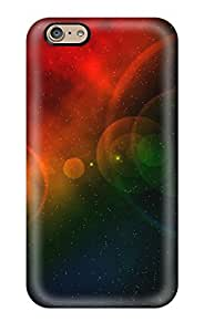 New Style 1259465K25118347 Rugged Skin Case Cover For Iphone 6- Eco-friendly Packaging(colorful Universe)