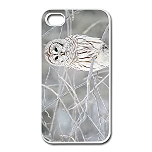 White Owl IPhone 4 4s Case Shell - Custom Keep Calm Shell For IPhone 4 4s