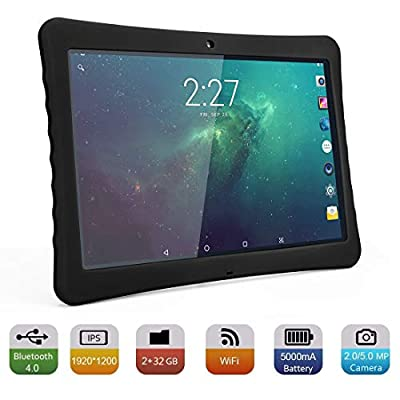 "BENEVE 10 Tablet, 10.1"" 1920&1200 IPS Display, 2+32 GB, WiFi and Andriod System, Black - for Kids and Adult"