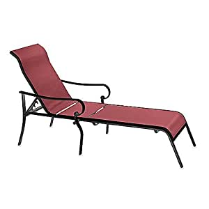 Indoor outdoor oversized adjustable sling for Amazon chaise longue