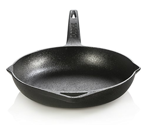 Lodge Dishwasher Safe Seasoned Cast Iron Skillet - 9 Inch Rust Resistant Ergonomic Cast Iron Frying Pan with Assist Handle (Made in USA)