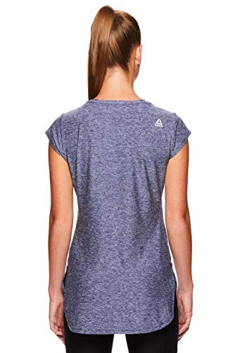 Reebok Women's Legend Performance Top Short Sleeve T-Shirt - Medieval Blue Heather, Extra Small by Reebok (Image #3)