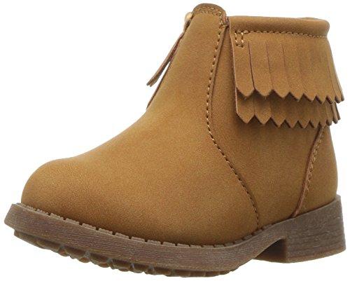 Oshkosh B'Gosh  Girls' Blige Fringe Ankle Boot, Brown, 11 M US Little Kid