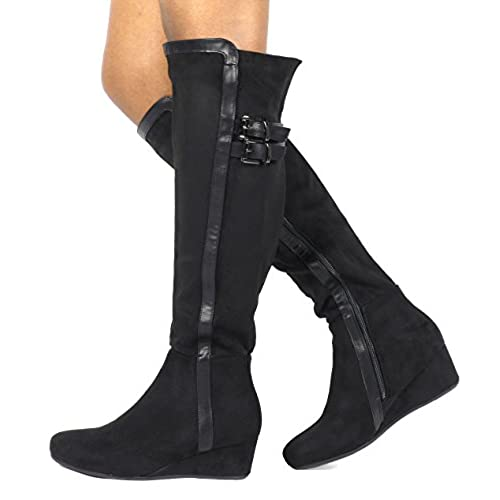 e7d8b54c68d durable modeling DREAM PAIRS Women s Over The Knee Thigh High Stretch Boots