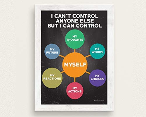 - I Can't Control Anyone Else But Myself Therapy Poster - 18x24 - Posters for Kids - School Classroom Children Poster