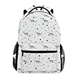 "Stylish Camarasaurus Dinosaur Backpack- Lightweight School College Travel Bags, ChunBB 16"" x 11.5"" x 8"""