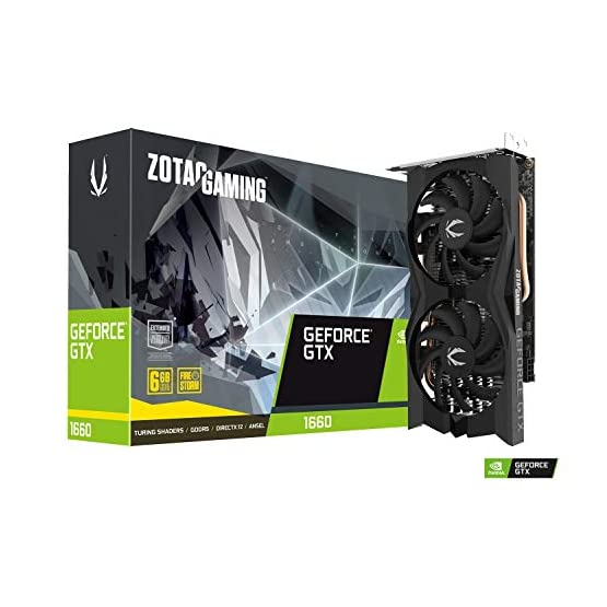 ZOTAC Gaming GeForce GTX 1660 6GB GDDR5 192-bit Gaming Graphics Card, Super Compact, ZT-T16600K-10M 41LE7GLIobL. SS555