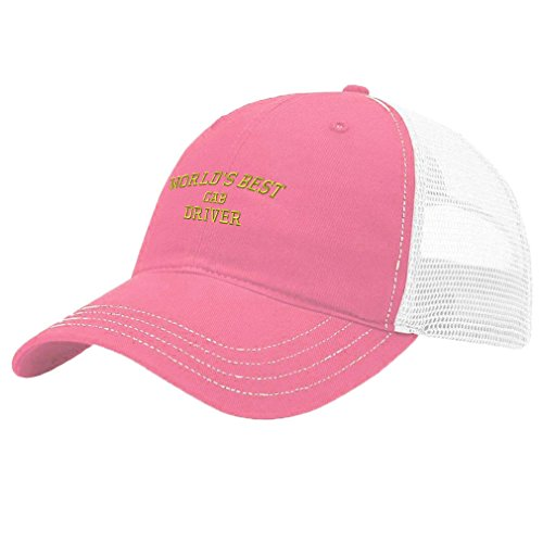 Speedy Pros Worlds Best Cab Driver Embroidery Design Richardson Cotton Front/Mesh Back Cap (Cab Driver Hats)