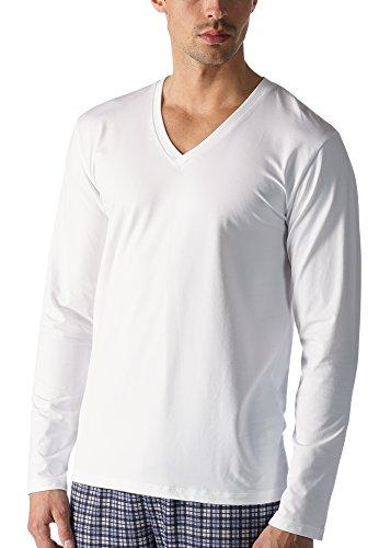 Mey Loungewear Club Coll. Herren Shirts 1/1 Arm Weiß M/T