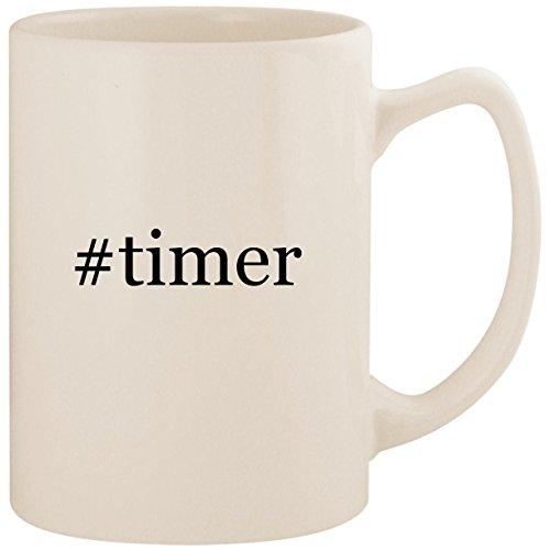 - #timer - White Hashtag 14oz Ceramic Statesman Coffee Mug Cup