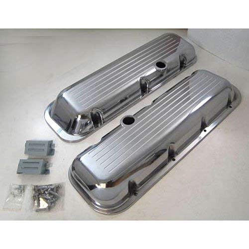Bb Chevy Short - POLISHED ALUMINUM BB CHEVY SHORT VALVE COVER - PLA