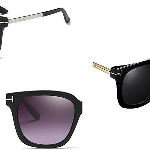 Uv400 Hommes Miroir Pc Black de Lunettes Mode Hommes Pare soleil Rétro Conduite Lentille pYwrp