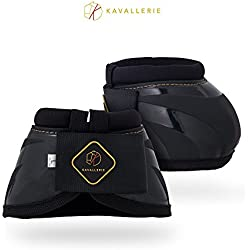 Kavallerie PRO-K Soft No Turn Bell Boots Ultimate Hoof Protection, with Anti-Spin Fastening System, Durable & Prevents Overreaching XL-Black