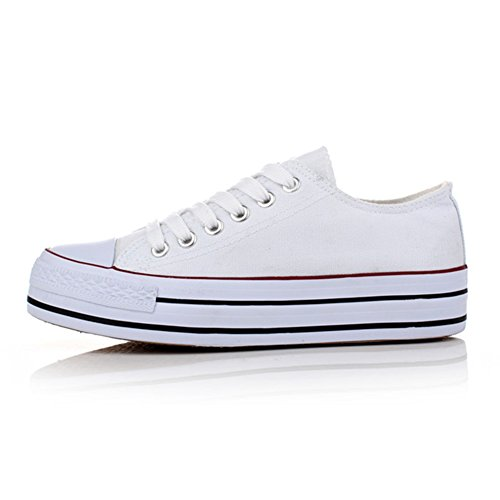 2016 Woman New White Shoes Flat Casual Shoes Women Lace up Shoes - 3