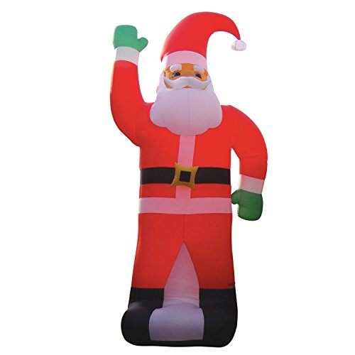 "BZB Goods 236"" Huge Christmas Inflatable Santa Claus Party Outdoor Yard Holiday Blow up Blowup Lawn Decoration"