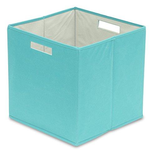 BIN Full Fabric Storage Teal/Aqua (Pack of 4), Large, Pastel Turquoise, 4 Piece