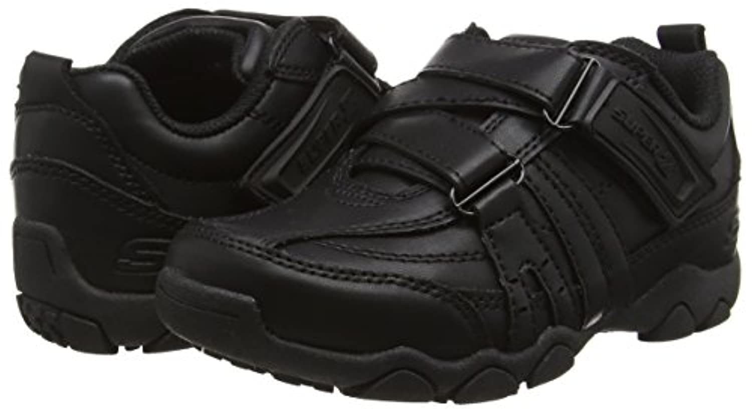 Skechers Diameter - Landon, Boys' Low-Top Sneakers, Black (Bbk), 1 UK