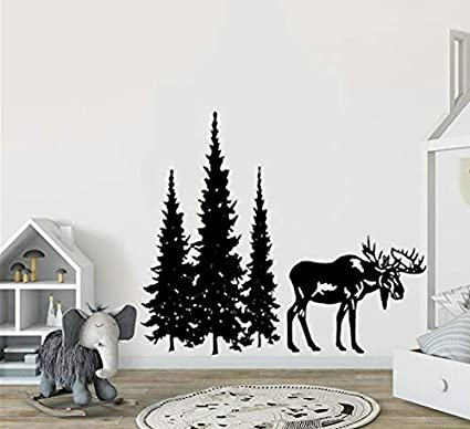 Chic Home Decor Gold Decals Christmas Trees Modern Office Art Bedroom Wall Decals Mini Pine Tree Wall Decal Gift Ideas