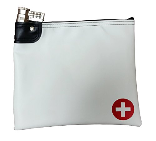 Prescription Medications - Medication Safety Bag Combination Keyed Lock (White)